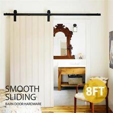 SmileMart 8Ft Sliding Barn Door Hardware Kit Set Track Antique Style Closet Syst