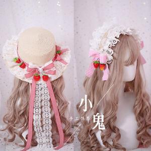 Lolita Hair Accessories Handmade Sweet Japanese Kawaii DIY Cap Hat Headband  #