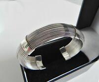 F✨A✨B✨ VTG! 39g sterling silver 925 multi strand cuff bangle statement bracelet