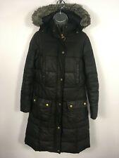 WOMENS BARBOUR PENINSULAR BLACK WAXED COTTON ZIP UP HOODED JACKET COAT UK 10