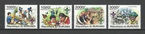 Burundi 2011 Sc#921-4  Scouting  MNH Set $15.00