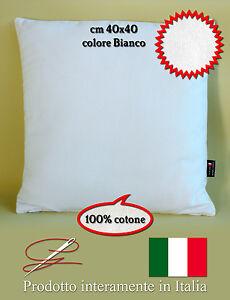 CUSCINO ARREDO 40X40 COTONE 100% FODERA LAVABILE SFODERABILE MADE IN ITALY