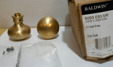 Baldwin Brass Door Knobs Pair Vintage Brass 5000.033.mr
