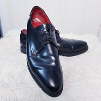 Mens Black Leather Lace Up Base London CELL Oxford Shoes UK 10 EUR 44