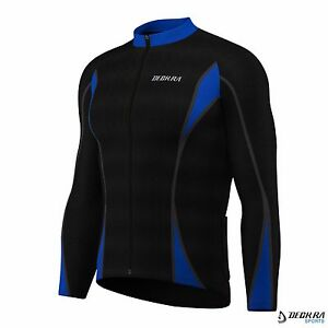 New Mens Cycling Jersey Long Sleeves Thermal Outdoor Sports Winter Bicycle Top