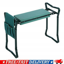 Folding Garden Kneeler Bench Kneeling Soft Eva Pad Seat With Stool Pouch