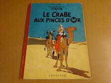 BD HC RE 1954 / TINTIN - LE CRABE AUX PINCES D'OR