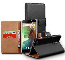 Genuine Real Leather Wallet stand case cover for OnePlus 3 Three & Screen Guard