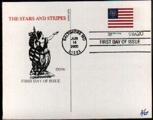 (1hh) FDC UX329 Great Star Flag Card - DGW
