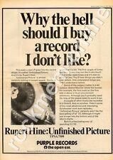 Rupert Hine Unfinished Picture Deep Purple Records Advert 10/3/73