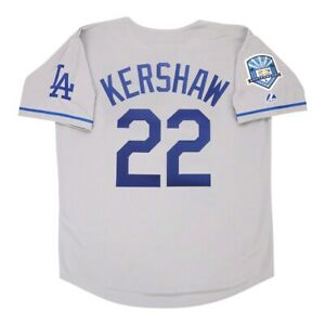 Clayton Kershaw 2008 Los Angeles Dodgers Road 50th Anniv. Men's Jersey Large