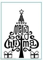 CRAFTS TOO EMBOSSING FOLDER MERRY CHRISTMAS MODERN GIFTS CTFD3071 CARDMAKING