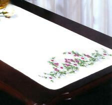 TOBIN Dresser Scarf Table Runner STAMPED FOR EMBROIDERY Meadow Flowers