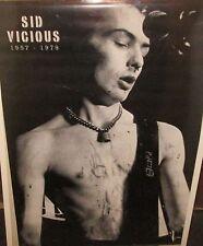 Sid Vicious Sex Pistols Vintage Rare New Sealed Poster 2001 Rock Metal