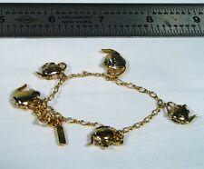 Charm Bracelet Vintage HMK CDS Teapot ~ Gold Tone ~ Nice HMKCDS