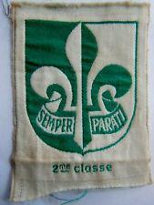 Insigne tissu SCOUT 2° CLASSE France Scoutisme ORIGINAL patch ancien