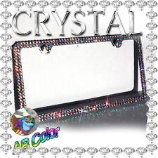 2014 New Multi Color Crystal Diamond Bling Rhinestone Metal License Plate Frame