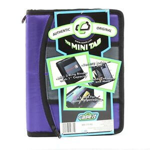 "CASE IT The Mini Tab 3 Ring Binder 1"" Capacity MB-711"