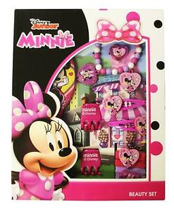 Official Girls Disney Character Minnie Mouse 11Pcs Hair Accessories Set Gift