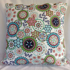 Cushion Cover Large Wildflower Blue Euro Pillow Sham Daybed Sofa Floor Outdoor