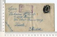24723) USA 1924 Registered Cover New York Trieste 22.2.1924