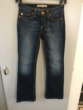 """BIG STAR REMY Women's Size 26R Low Rise Boot Cut Jeans 28"""" Waist"""