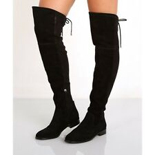 Dolce Vita Neely Over The Knee Black Suede Boots Size 7.5 $200