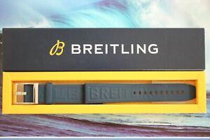 BREITLING 1ST MODEL 158S 22-20 BLUE RUBBER WATCH BAND WATCHBAND BRACELET STRAP
