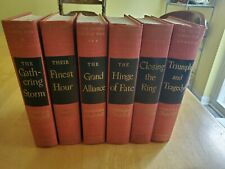 Winston Churchill the Second World War, 6 volumes, Haddon Craftsmen,...