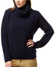 Craghoppers Roll Neck Womens Sweater Navy Stylish Winter Lambswool Jumper 10 12