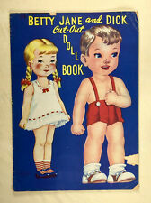 """BETTY JANE AND DICK"" 1943 LOWE UNCUT PAPER DOLLS VINTAGE"