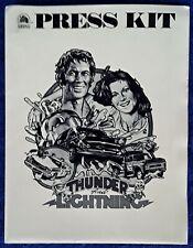 THUNDER & LIGHTNING - DAVID CARRADINE -MOVIE PRESS KIT- (9) B&W PUBLICITY STILLS
