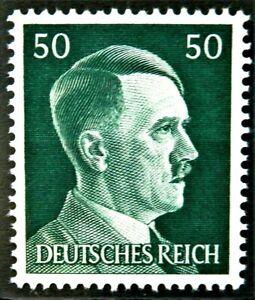 WW2 REAL NAZI 3rd REICH ERA GERMAN STAMP ADOLF HITLER REICHSKANZLER 50rf MNH