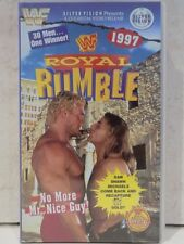 WWF ROYAL RUMBLE 1997 '97 VHS WRESTLING VIDEO TAPE SILVER VISION WWE WCW