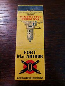 Vintage Matchcover: Fort MacArthur, San Pedro, CA  67