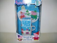 Peppa Pig Tea Cup Set With Candy Snowflakes New
