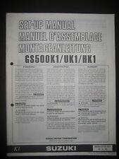 SUZUKI GS500K1 / UK1 / HK1 Set Up Manual GS 500 K1 Set-Up 99505-01131-011