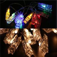 1M Mini 10 LED Clip String Lights Battery Christmas Light Card Photo Lamp Decor