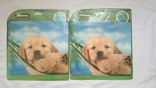 Set of 2 Fellowes Recycled Optical Puppy in Hammock Mouse Pads Made in Usa