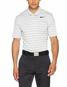 Nike Golf Men's Breathe Stripe Polo Wolf Grey/Black 833065-012 2XL XXL NWT $70