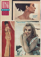 MARILYN MONROE RARE FILMSKI SVET MOVIE MAGAZINE YUGOSLAVIA