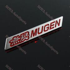 3D Car Trunk Spoiler Emblem Badge Sticker Decal MUGEN Red for HONDA CIVIC SI Lip