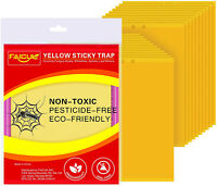 Faicuk 20-Pack Dual-Sided Yellow Sticky Traps for Flying Plant Insect Like -