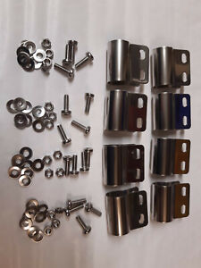 DESMO BADGE BAR MOUNTING X 8 + FITTINGS ALL STAINLESS