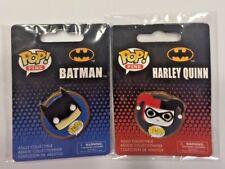 DC Super Heroes Funko Pop Harley Quinn And Batman Pin Set Gotham Rogue