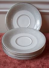 5 ROSENTHAL PLATINUM GRAIL SAUCERS (OTHER PCS AVAIL) FOR TEA CUPS ? GERMANY GRAY