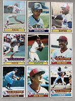 1979 Topps Baseball Lot (1400+ cards) HOF *Brett *Yaz *Seaver *Rice *Carew