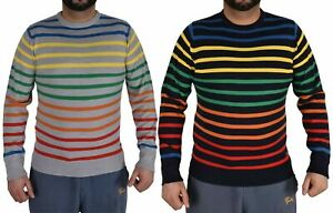 Men's  Striped Jumper Crew Neck Long Sleeve Casual Sweater
