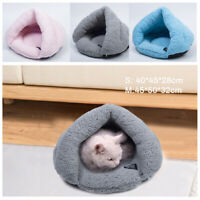 Pet Cat Dog Nest Bed Puppy Soft Bed Cave Warm Pad Mat Bag Sleeping Winter House@