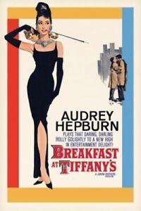 BREAKFAST AT TIFFANY'S - MOVIE POSTER 24x36 - CLASSIC AUDREY HEPBURN 39548